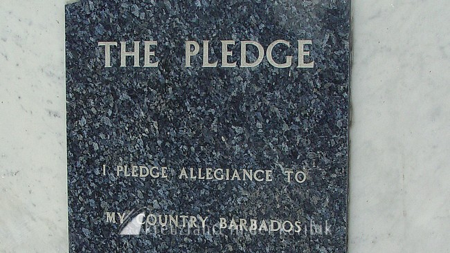 barbados the national pledge of barbados