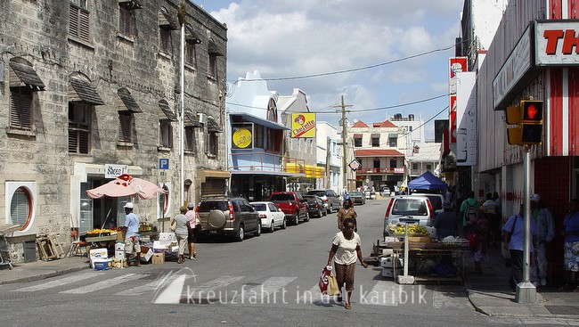 barbados strasse in bridgetown