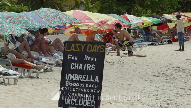Lazy Days am Grand Anse Beach